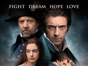 plakat filmu Nędznicy - Les Miserables
