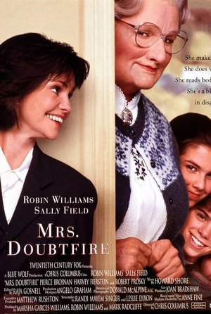 plakat filmu Pani Doubrtfire