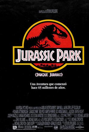 plakat filmu Park Jurajski. Steven Spielberg