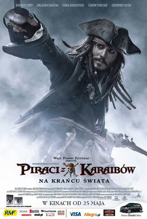 plakat filmu Piraci z Karaibów. Na krańcu świata