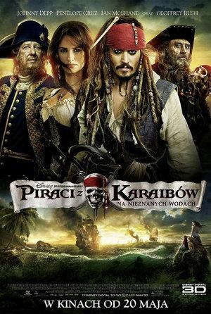 plakat filmu Piraci z Karaibów. Na nieznanych wodach