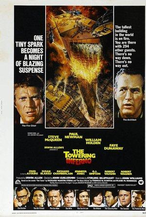 plakat filmu Płonący wieżowiec