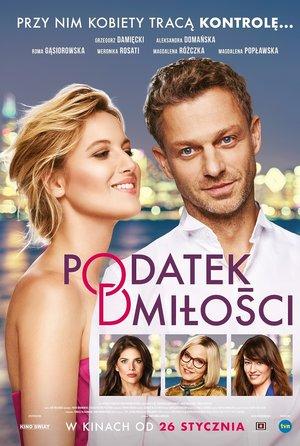 plakat filmu Podatek od miłości, reż. Bartłomiej Ignaciuk. Kino Świat