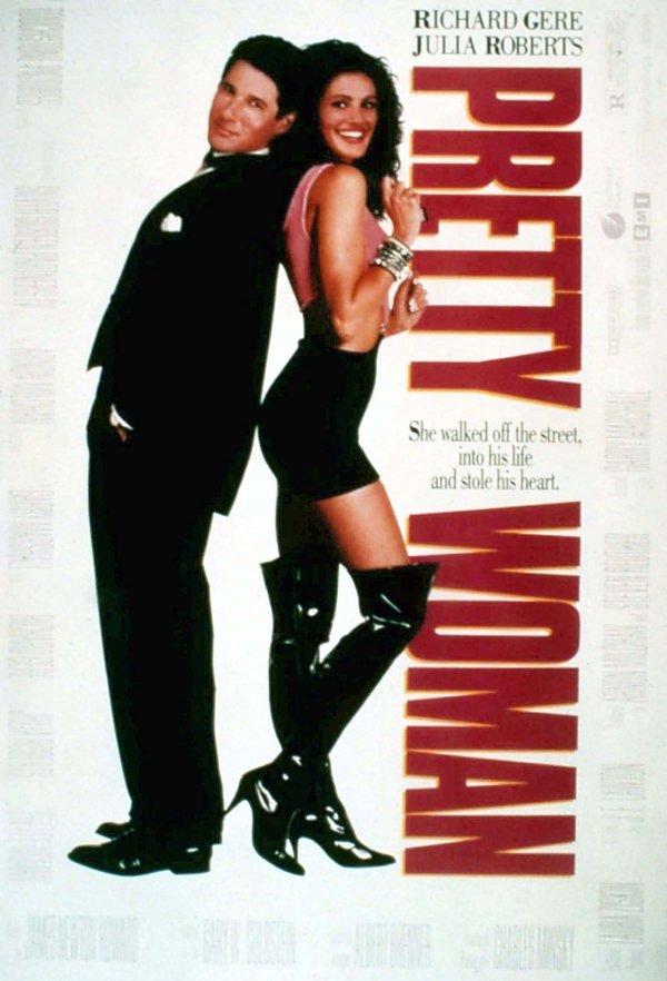 plakat filmu Pretty Woman. Richard Gere, Julia Roberts