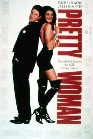 plakat filmu Pretty Woman. Richard Gere, Julia Roberts