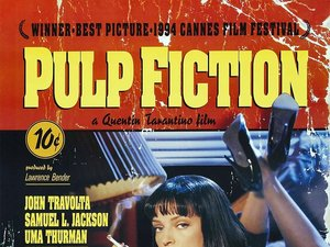plakat filmu Pulp Fiction, Uma Thurman