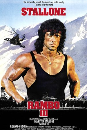 plakat filmu Rambo 3. Sylvester Stallone