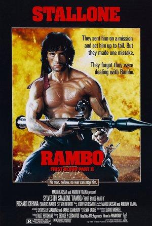 plakat filmu Rambo II. George P. Cosmatos