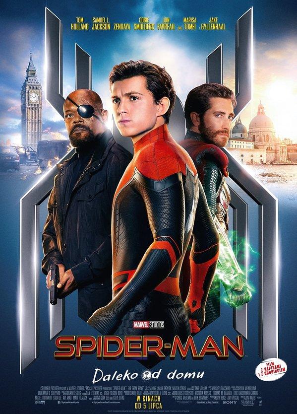 Plakat filmu Spiderman.  Daleko od domu