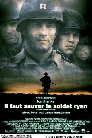 plakat filmu Szeregowiec Ryan. Steven Spielberg