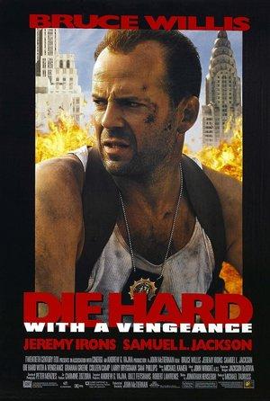 plakat filmu Szklana pułapka 3. Bruce Willis