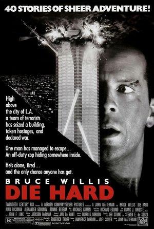 plakat filmu Szklana pułapka, Die Hard. Bruce Willis