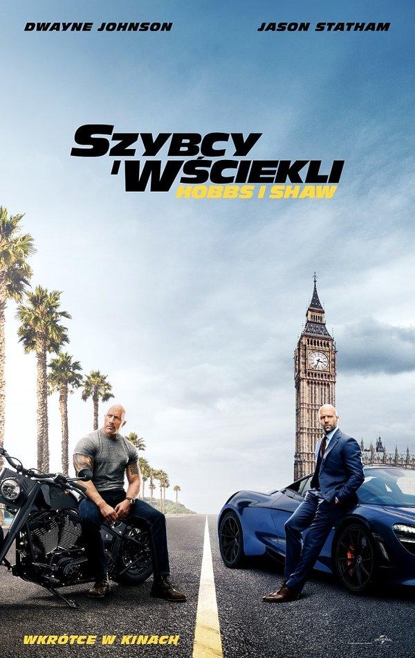 plakat filmu Szybcy i wściekli: Hobbs i Shaw