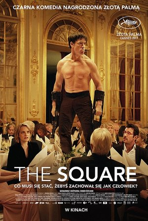 plakat filmu The Square. Gutek Film