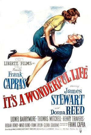plakat filmu To wspaniałe życie. Frank Capra, James Stewart