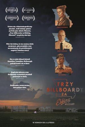 plakat filmu Trzy billboardy za Ebbing, Missouri. Frances McDormand
