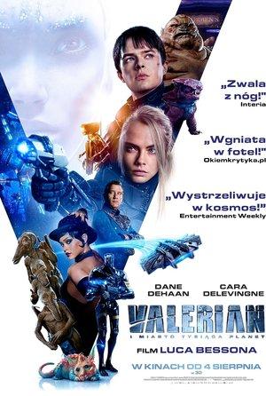 plakat filmu Valerian i Miasto Tysiąca Planet, reż. Luc Besson