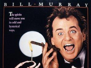 plakat filmu Wigilijny show. Bill Murray