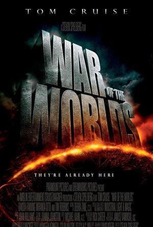 plakat filmu Wojna światów. Steven Spielberg