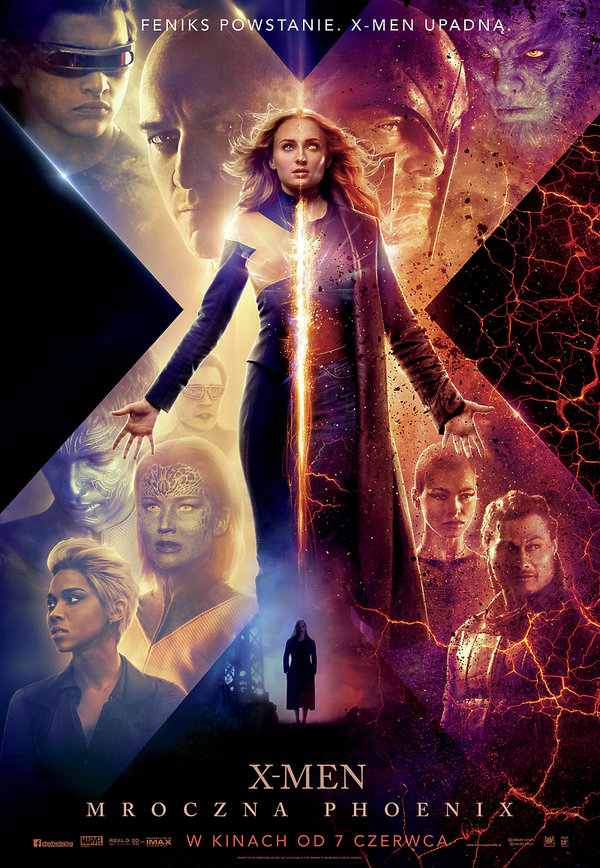 plakat filmu X-Men. Mroczna Phoenix
