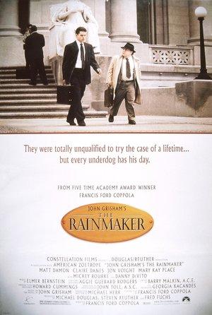 plakat filmu Zaklinacz deszczu. Matt Damon, Danny DeVito