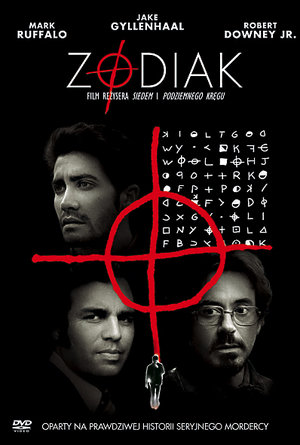 plakat filmu Zodiak. David Fincher, Robert Downey Jr., Jake Gyllenhaal, Mark Ruffalo