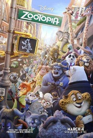 plakat filmu Zwierzogród, Zootopia