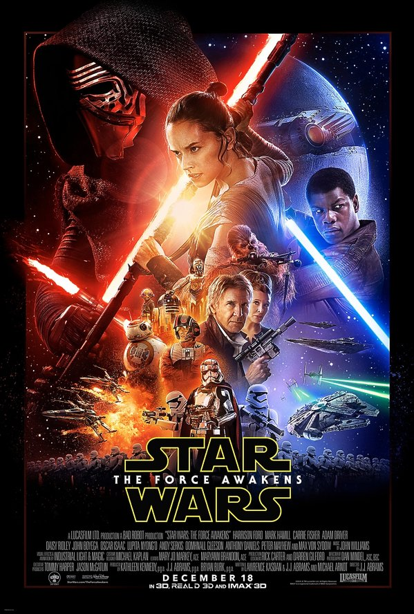 Plakat Gwiezdnych wojen: Przebudzenia mocy