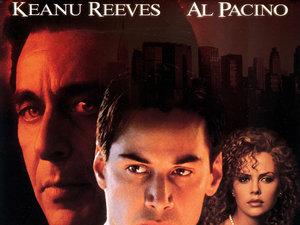 plakat z filmu Adwokat diabła. Taylor Hackford, Reeves, Pacino, Theron