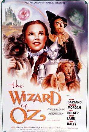 plakat z filmu Czarnoksiężnik z Oz