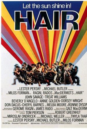 plakat z filmu Hair