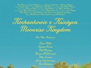 plakat  z filmu Kochankowie z Księżyca. Moonrise Kingdom. Wes Anderson
