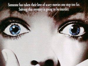 plakat z filmu Krzyk. Drew Barrymore