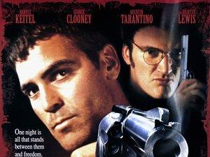 plakat z filmu Od zmierzchu do świtu. George Clooney, Quentin Tarantino