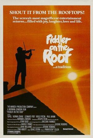 plakat z filmu Skrzypek na dachu