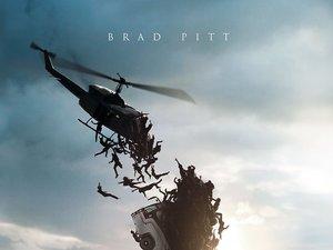 plakat z filmu World War Z. Brad Pitt, Mireille Enos