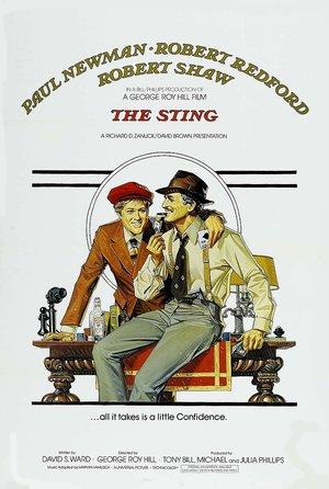plakat z filmu Żądło, George Roy Hill