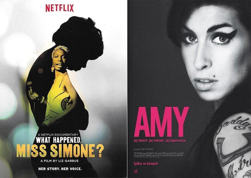 Plakaty filmów o Ninie Simone i Amy Winehouse