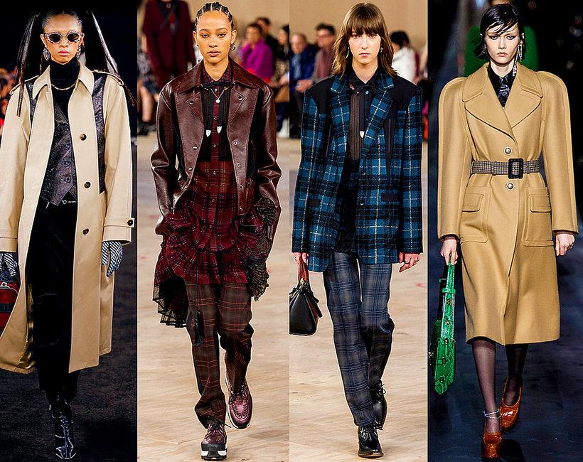 płaszcze na jesień zimę 2019, trendy z wybiegów