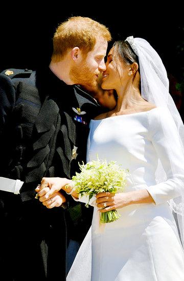 Pocałunek księcia Harry'ego i Meghan Markle