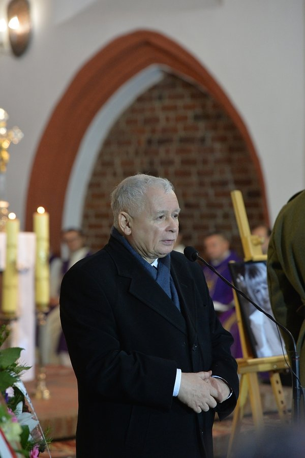 pogrzeb Jolanty Szczypińskiej, Jarosław Kaczyński