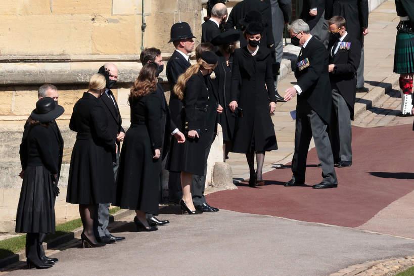 Pogrzeb księcia Filipa księżne i księżniczki
