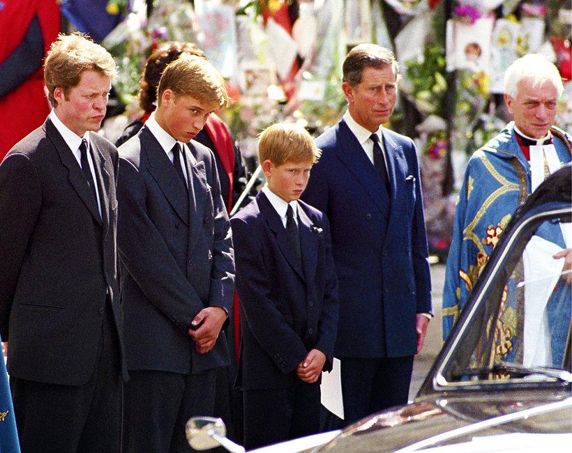 Pogrzeb księżnej Diany, księżna Diana, książę William, książę Harry, książę Karol