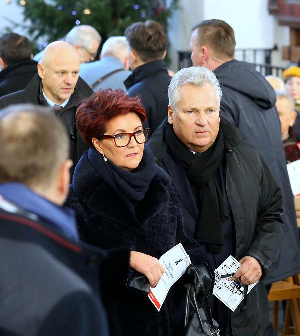 Pogrzeb Pawła Adamowicza, Aleksander Kwaśniewski, Jolanta Kwaśniewska