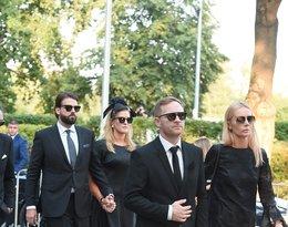 Pogrzeb Piotra Woźniaka-Staraka: Agnieszka Woźniak-Starak, Julia Starak
