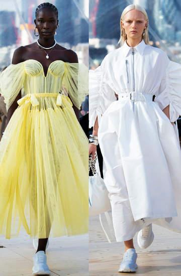 Pokaz kolekcji na wiosne i lato 2022 Alexander Mcqueen trendy z wybiegu looki stylizacje