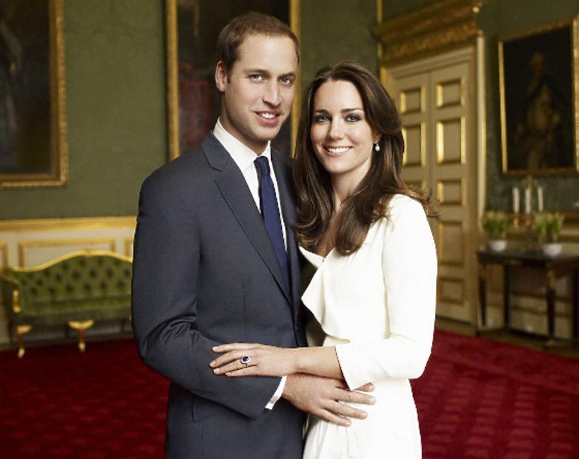Portret Kate i Williama, zaręczyny księcia Williama i księżnej Kate