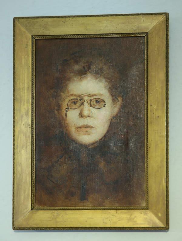 Portret Marii Konopnickiej namalowany przez Marię Dulębiankę