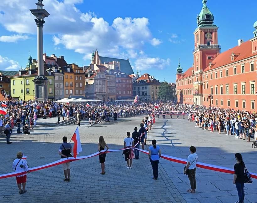Powstanie Warszawskie, obchody 2020, Plac Zamkowy