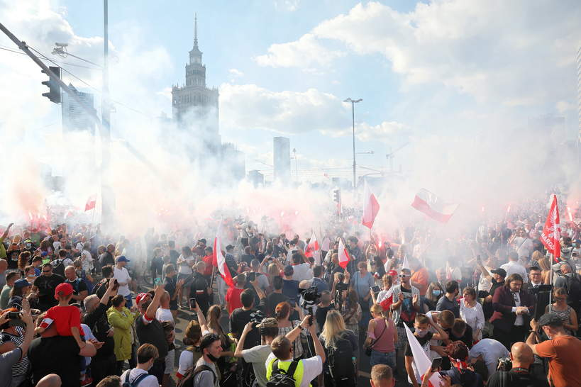 Powstanie Warszawskie, obchody 2020, rondo Dmowskiego